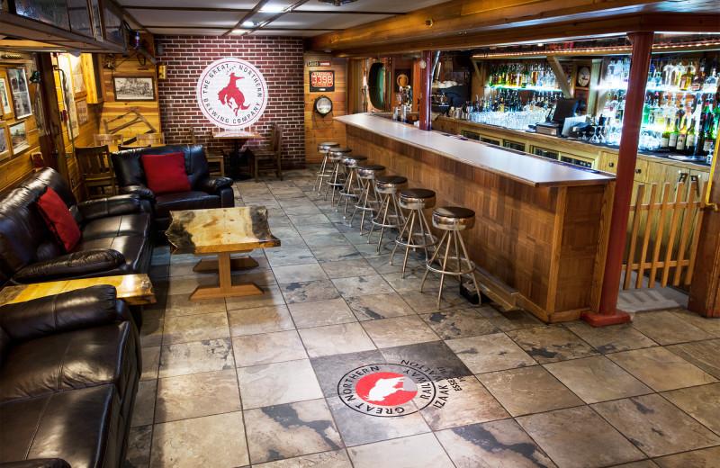 Lounge and bar at Izaak Walton Inn.