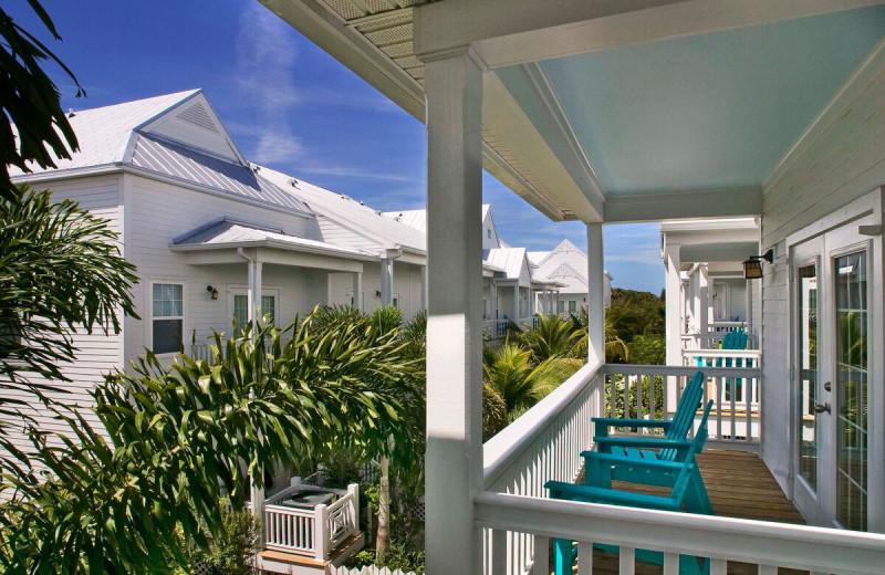 Balconies at Parrot Key Resort.