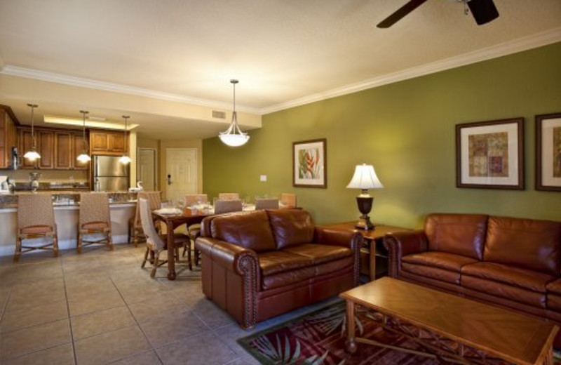 Guest room interior at Westgate Town Center.