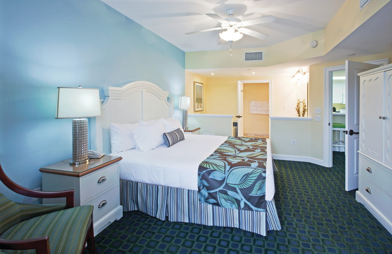 Guest room at Holiday Inn Club Vacations South Beach Resort.