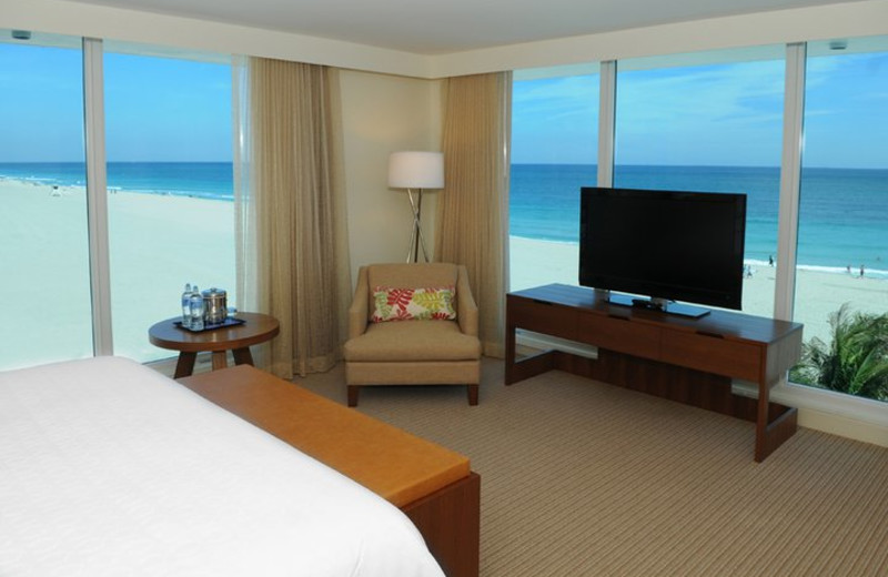 Guest room at Sheraton Fort Lauderdale Beach Hotel.