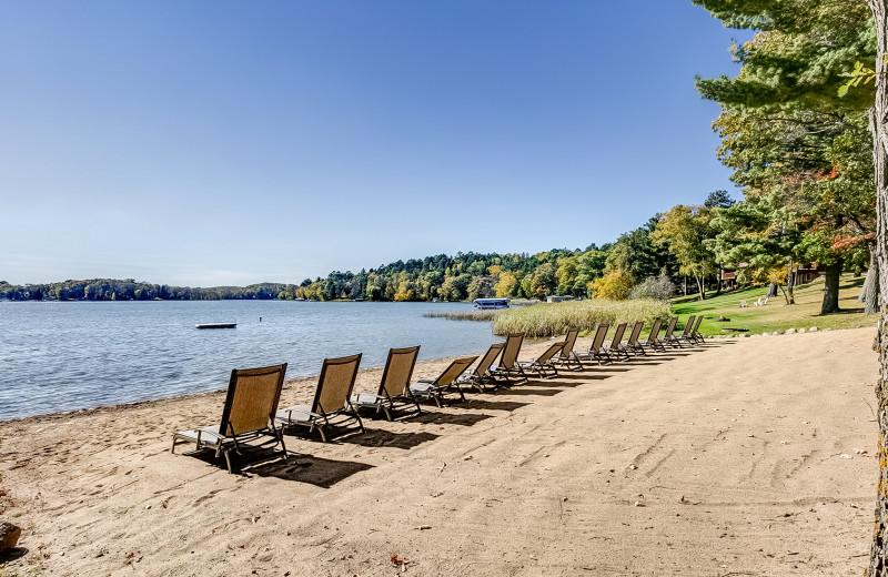 Beach at Wilderness Resort Villas.