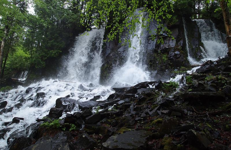 Waterfall at Heston's Lodge.