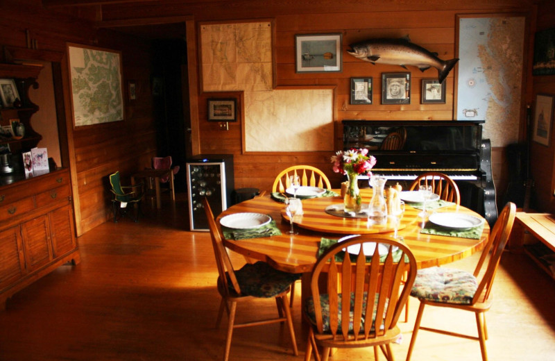 Interior view of Blackfish Lodge.