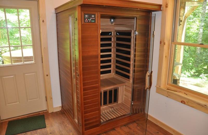 Cabin sauna at Great Smokys Cabin Rentals.