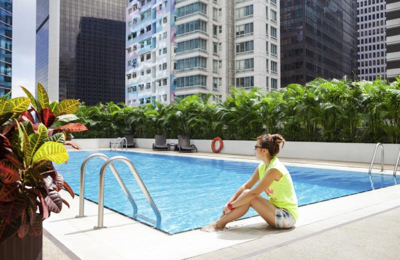 Outdoor pool at Novotel Century Hong Kong.