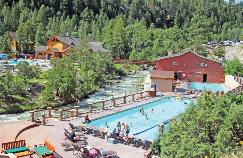 Outdoor pool at Mt. Princeton Hot Springs Resort.