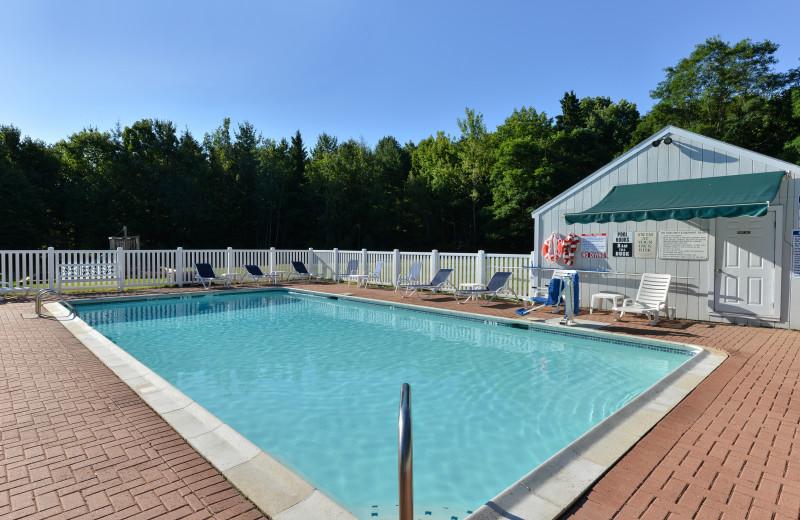 Outdoor pool at Acadia Inn.
