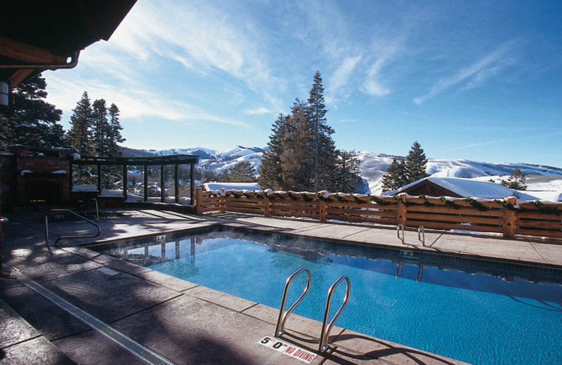 Outdoor pool at Stag Lodge.