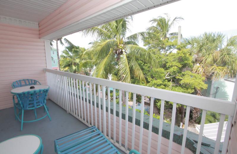 Balcony at Lighthouse Resort Inn & Suites.