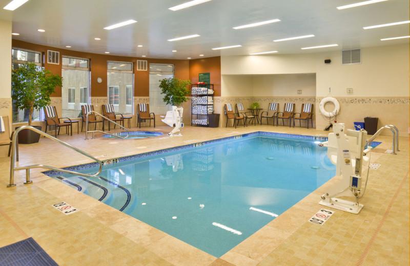 Indoor pool at Hilton Garden Inn Flagstaff.