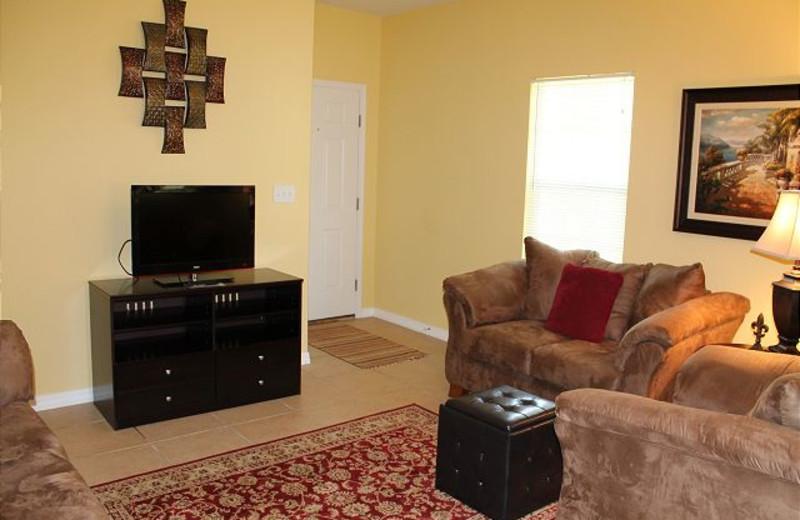 Living room at Orange Beach Villas.