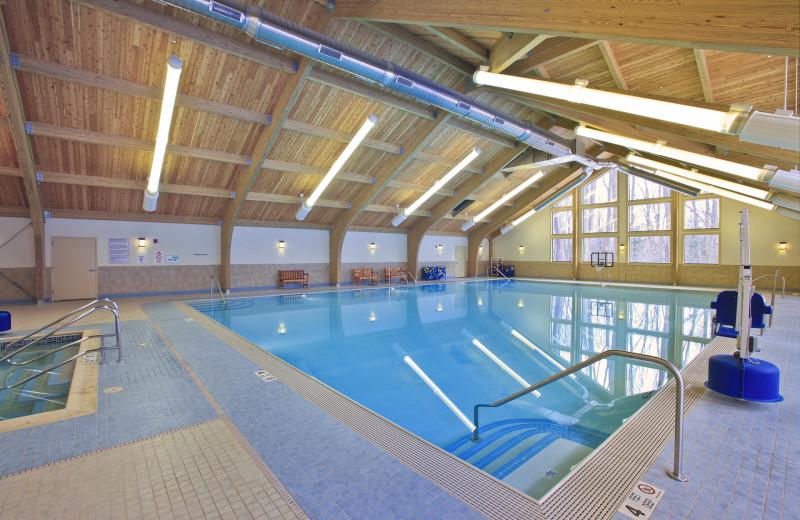 Indoor pool at Biggest Loser Resort Niagara.