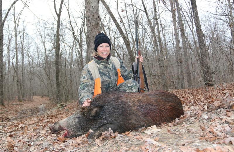 Boar hunting at Caryonah Hunting Lodge.