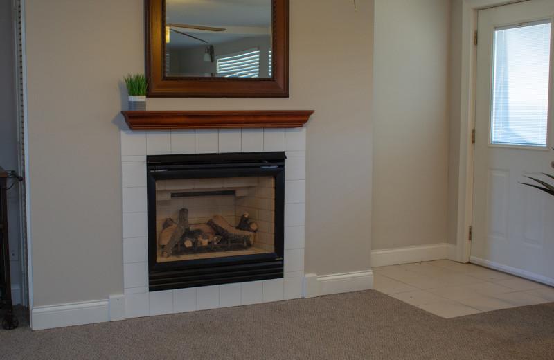 Fireplace at Mark III Inn.