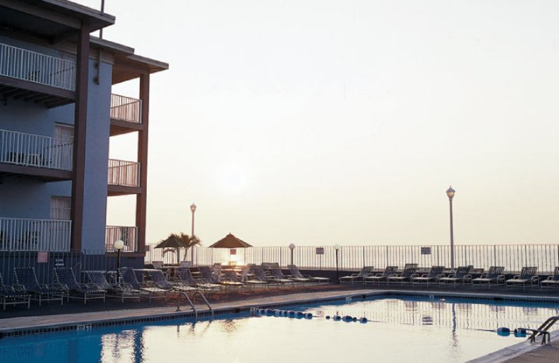 Outdoor pool at Flagship Oceanfront Hotel Ocean City.
