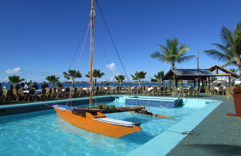 Outdoor pool at The Marshall Islands Resort.