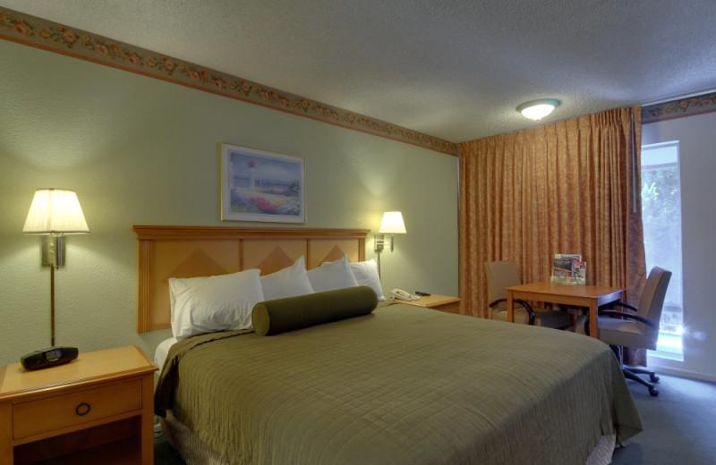 Guest room at Vagabond Inn Sunnyvale.