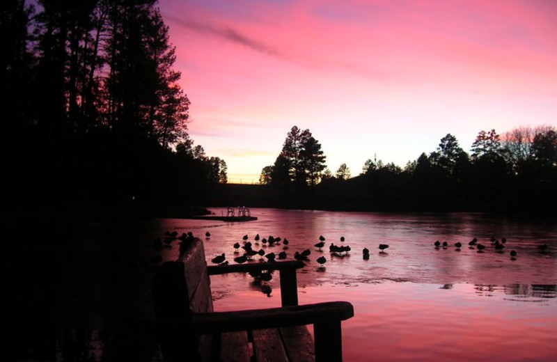 Sunset at Lake Of The Woods.