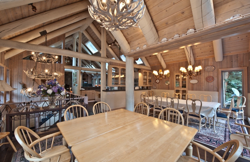 Rental dining room at Beaver Creek Rentals by Owner.