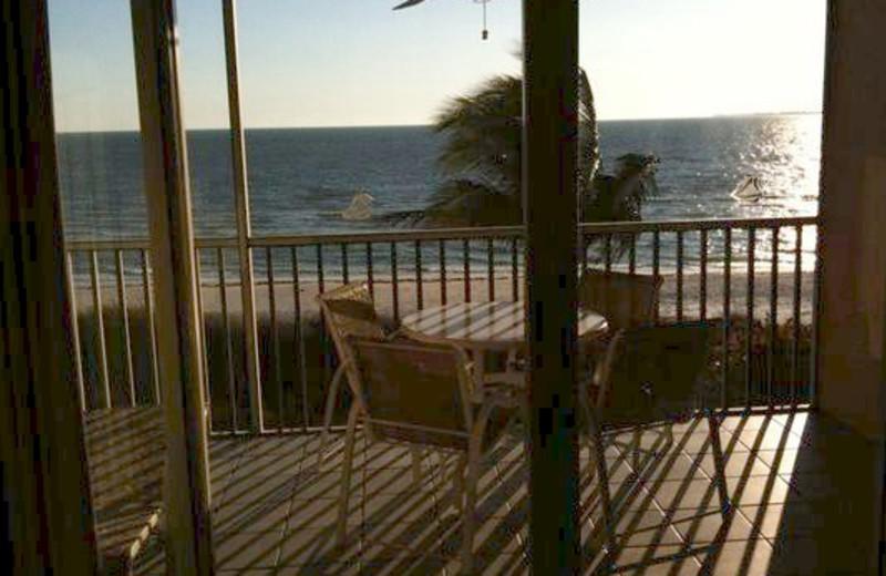 Balcony view at Pink Shell Beach Resort & Marina.
