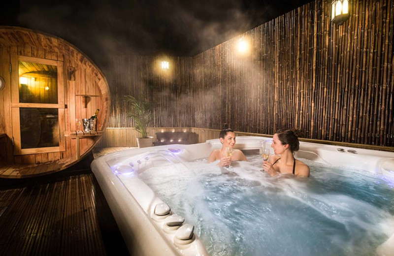 Spa hot tub at Thainstone House Hotel.