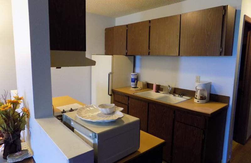 Guest kitchen at Chautauqua Lodge.