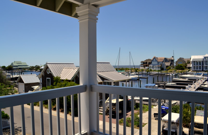 Guest balcony at The Inn at Bald Head Island.