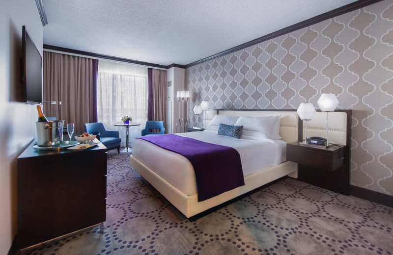 Guest room at Grand Biloxi Casino, Hotel and Spa.