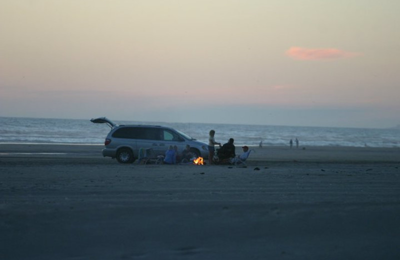 Campfire along the beach at Gearhart by the Sea.