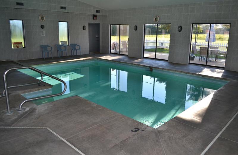 Indoor pool at Sky Lodge Inn & Suites.