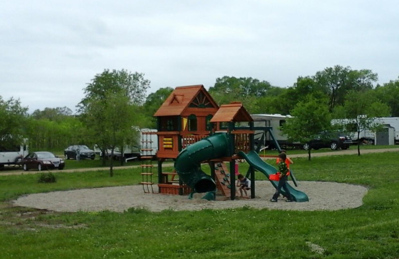 Playground at The Homestead at Ottertail RV Park and Resort.
