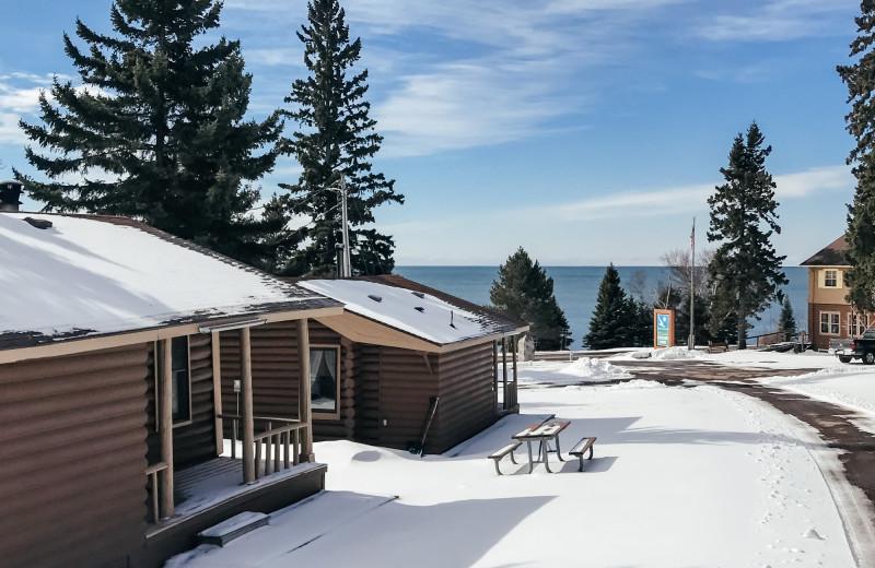 Winter at Cascade Lodge.