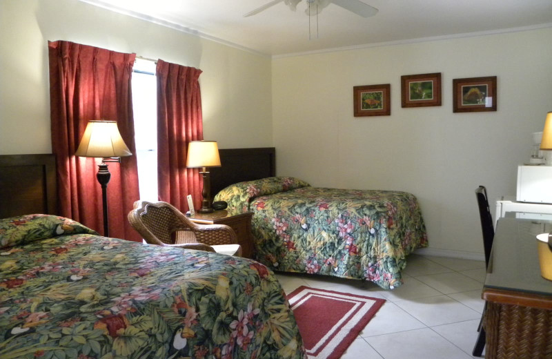 Guest room at Rock Reef Resort.