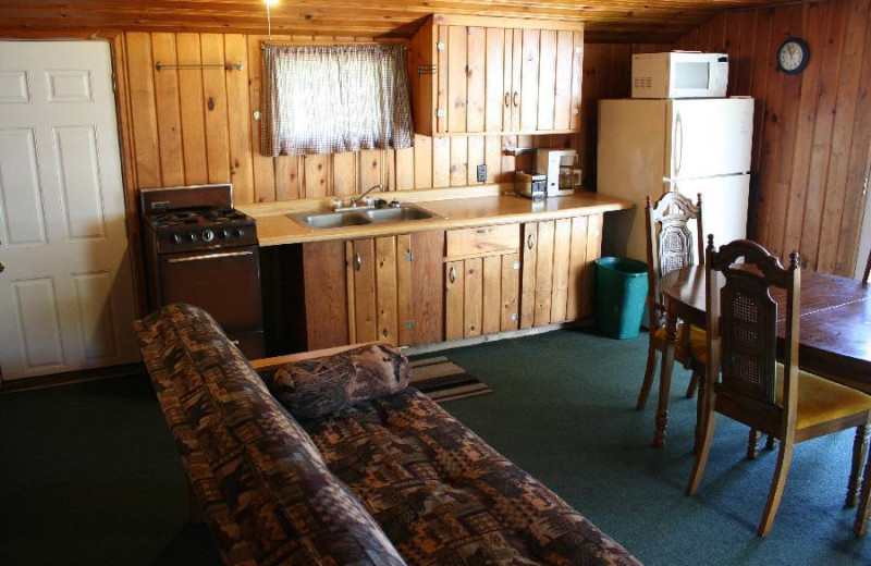 Cabin interior at Hook Line