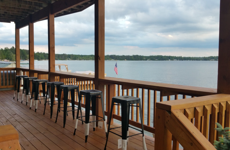 Porch at Lake Cabins Resort.