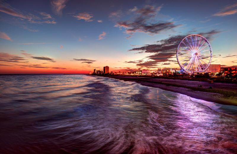 Beach sunset at Caribbean Resort & Villas.