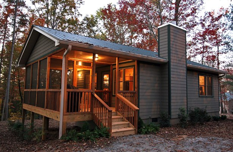 Cabin exterior at Sautee Resorts.