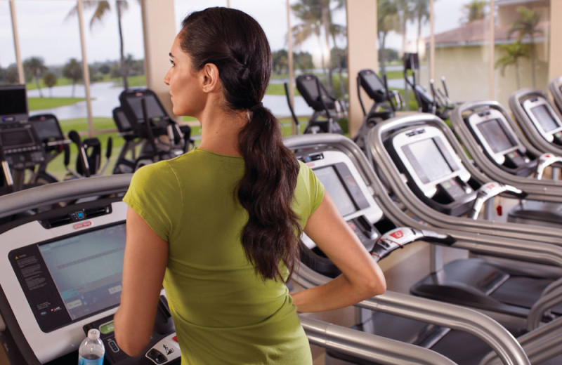Fitness room at Trump National Doral Miami.