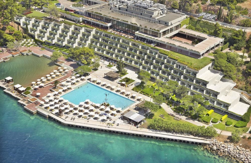 Aerial view of Astir Palace Resort and Hotels.