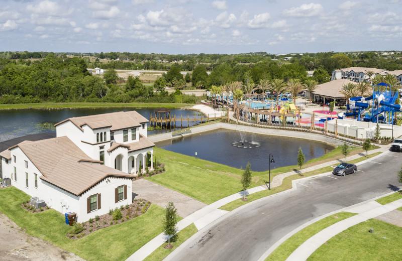 Aerial view of Balmoral Resort.