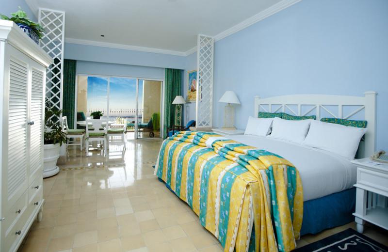 Guest room at Pueblo Bonito Emerald Bay Resort.