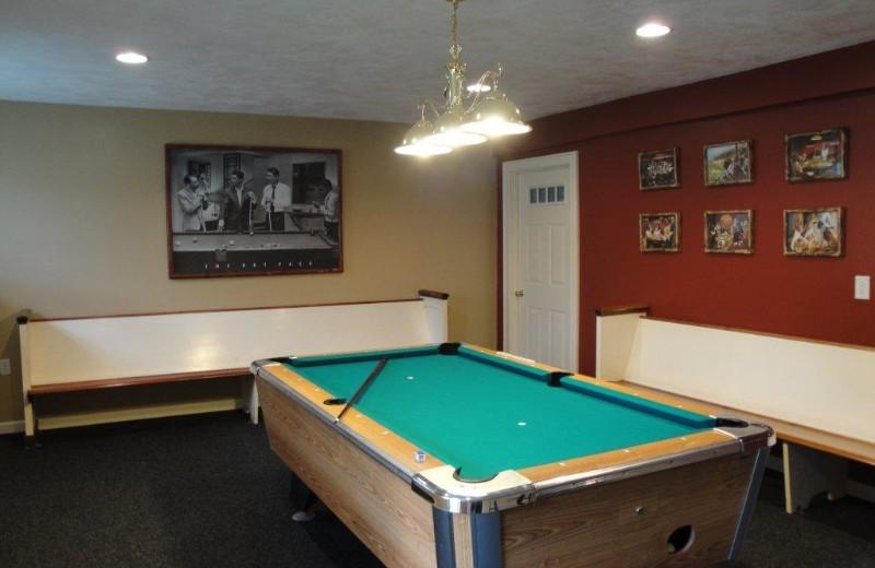 Billiards room at Fieldstone Farm.