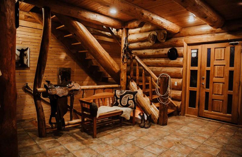 Cabin interior at Big Creek Lodge.