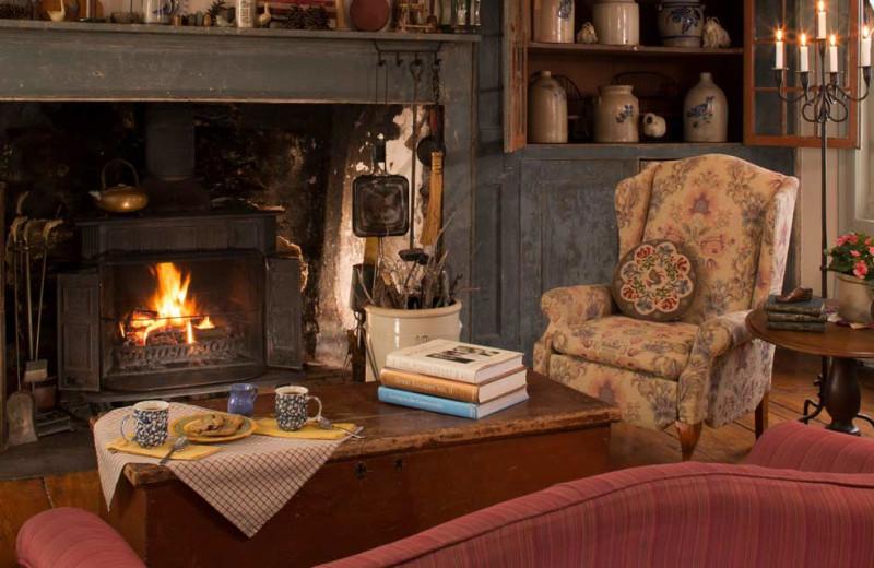 Living room at Olde Rhinebeck Inn.
