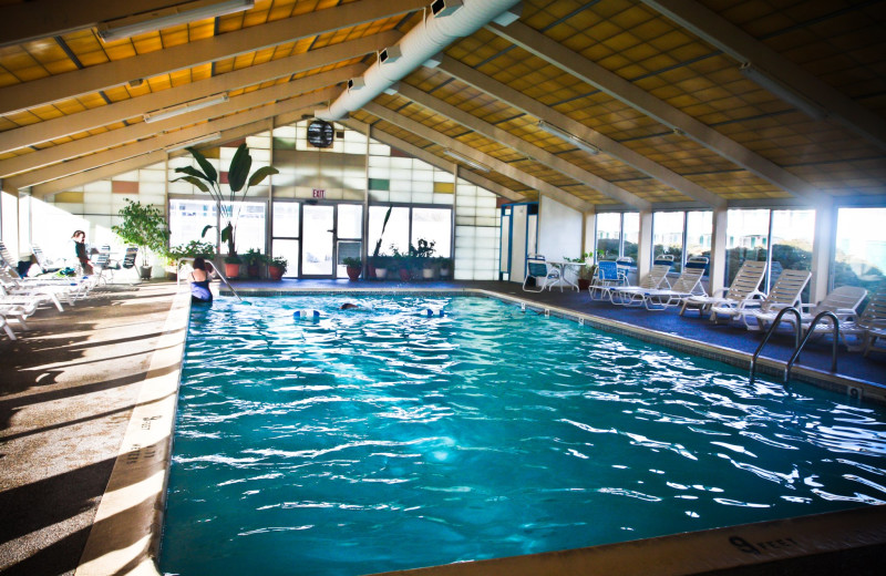 Indoor pool at Tidewater Inn.