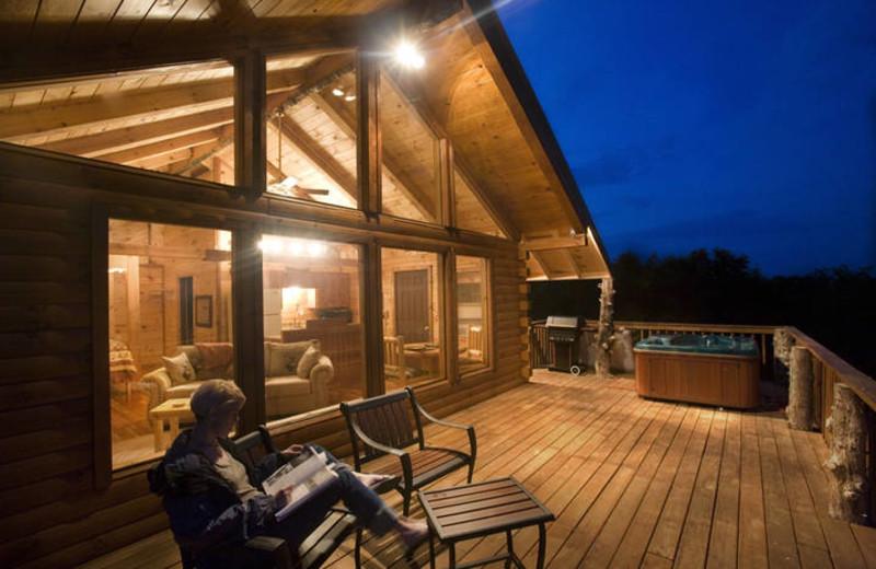 Cabin porch at Buffalo Outdoor Center.