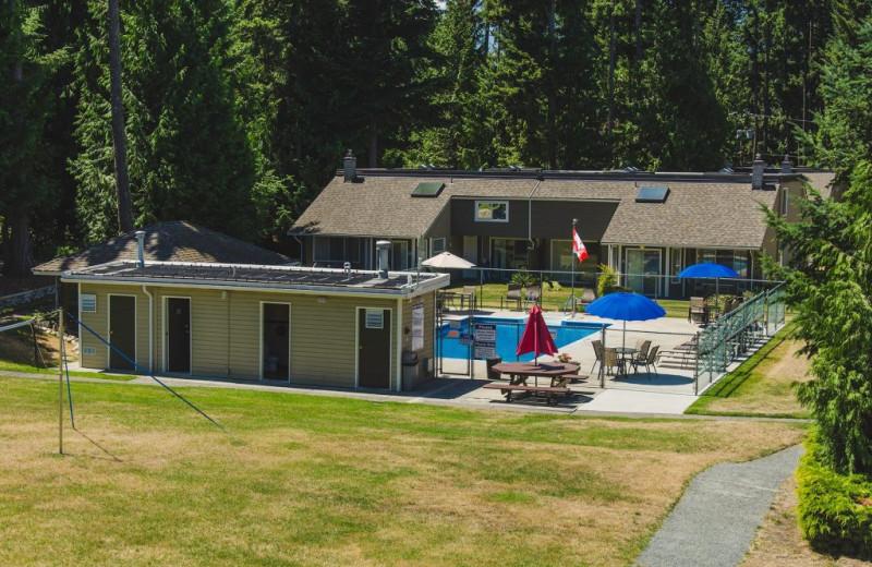 Exterior view of pool at Ocean Trails Resort.