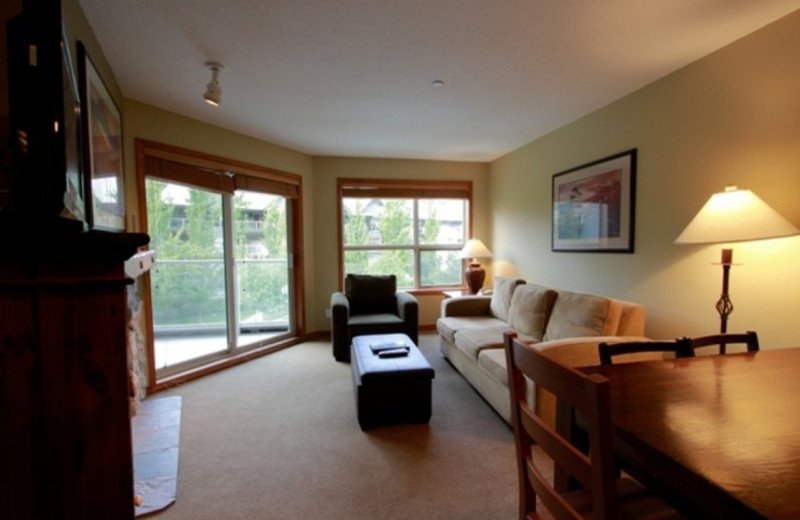 Vacation rental living room at Whistler Premier Resort.