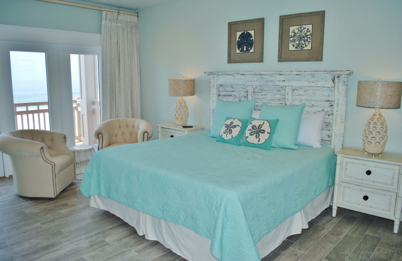 Rental bedroom at Gulf Shores Vacation Rentals.